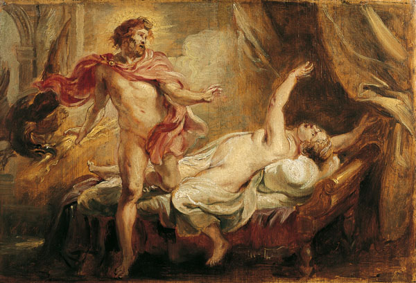 Death of Semele by the revelation of Zeus' true being